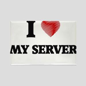 I Love My Server Magnets