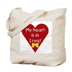 My Heart is in Iraq Tote Bag