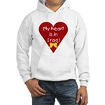 My Heart is in Iraq Hooded Sweatshirt