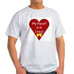 My Heart is in Iraq Ash Grey T-Shirt