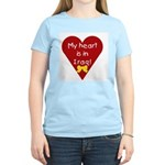 My Heart is in Iraq Women's Pink T-Shirt