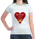My Heart is in Iraq Jr. Ringer T-shirt
