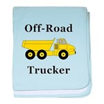 Off Road Trucker baby blanket