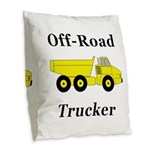 Off Road Trucker Burlap Throw Pillow