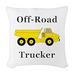 Off Road Trucker Woven Throw Pillow