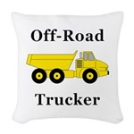 Off Road Trucker Woven Throw Pillow