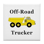 Off Road Trucker Tile Coaster
