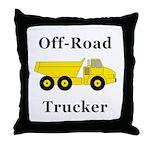 Off Road Trucker Throw Pillow