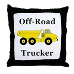 Off Road Trucker Throw Pillow