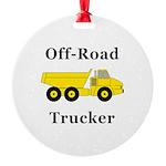 Off Road Trucker Round Ornament