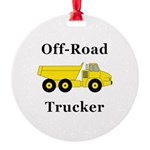 Off Road Trucker Round Ornament