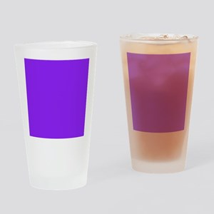 Neon Purple Solid Color Drinking Glass