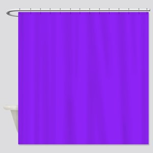 Neon Purple Solid Color Shower Curtain