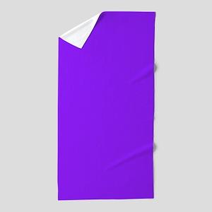 Neon Purple Solid Color Beach Towel