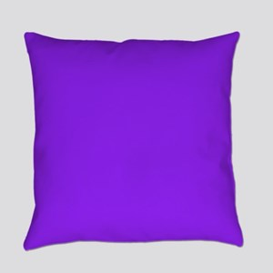 Neon Purple Solid Color Everyday Pillow