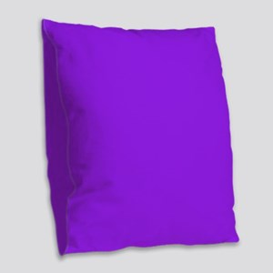 Neon Purple Solid Color Burlap Throw Pillow