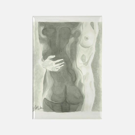 Nude Women Rectangle Magnet