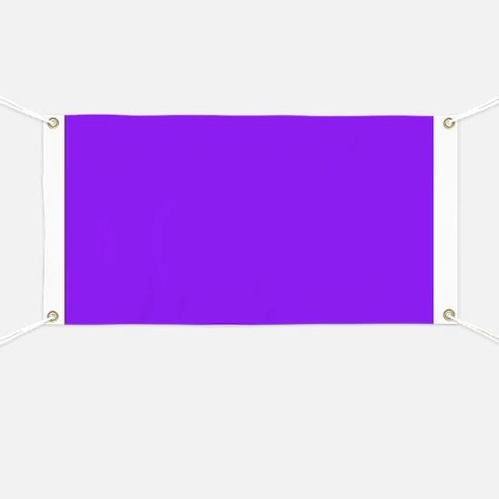 Neon Purple Solid Color Banner