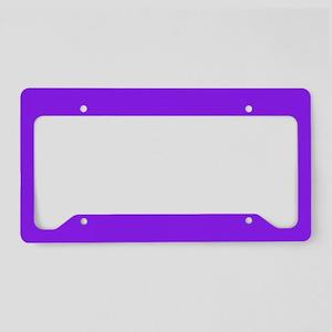 Neon Purple Solid Color License Plate Holder