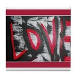 Love Is Red Tile Coaster