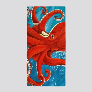 Octopus Painting Beach Towel