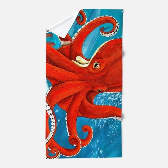 Octopus Painting Beach Towel