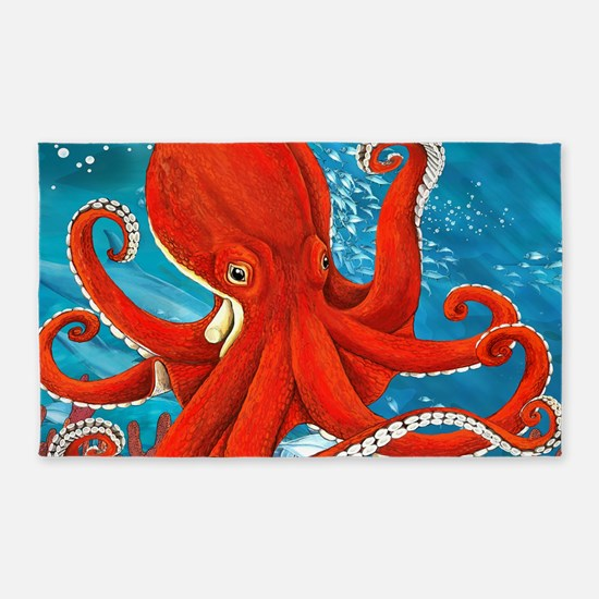 Octopus Painting Area Rug