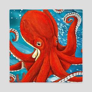 Octopus Painting Queen Duvet