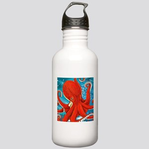 Octopus Painting Water Bottle