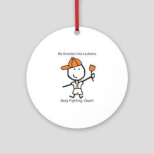 Leukemia - Grandson Owen Ornament (Round)
