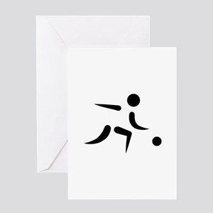Bowling player icon Greeting Card