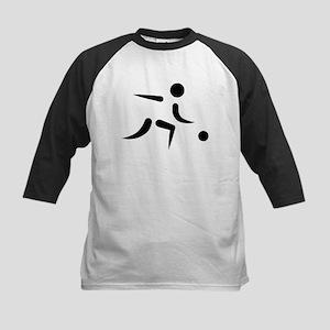 Bowling player icon Kids Baseball Jersey