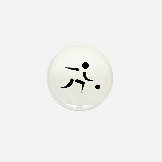 Bowling player icon Mini Button