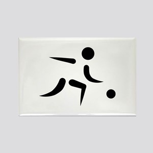 Bowling player icon Rectangle Magnet
