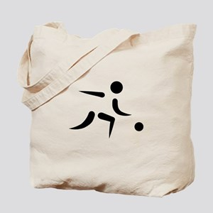 Bowling player icon Tote Bag