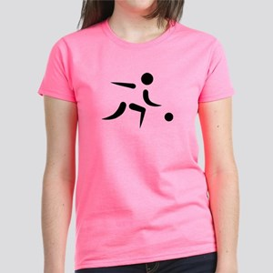 Bowling player icon Women's Dark T-Shirt