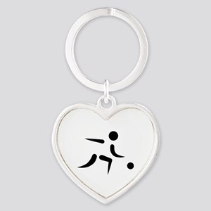Bowling player icon Heart Keychain