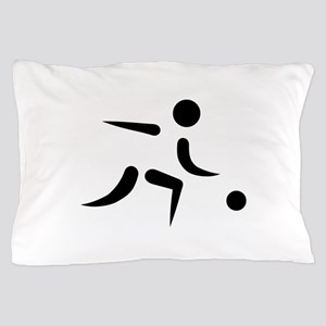 Bowling player icon Pillow Case
