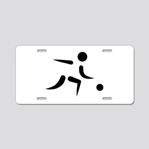 Bowling player icon Aluminum License Plate