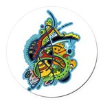 Design 160321 by Mike Jack Round Car Magnet