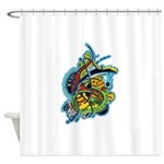 Design 160321 by Mike Jack Shower Curtain