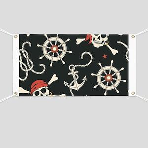 Pirate Skulls Banner