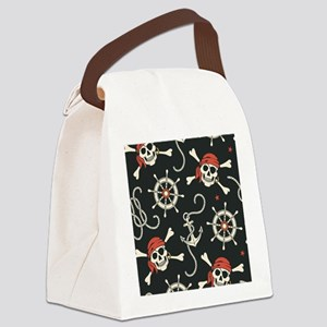 Pirate Skulls Canvas Lunch Bag