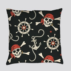 Pirate Skulls Everyday Pillow