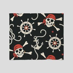 Pirate Skulls Throw Blanket
