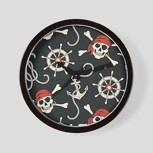 Pirate Skulls Wall Clock