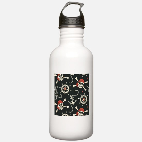 Pirate Skulls Water Bottle