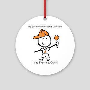 Leukemia - Great Grandson Owen Ornament (Round)