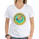 USS Oklahoma City (CL 91) Women's V-Neck T-Shirt