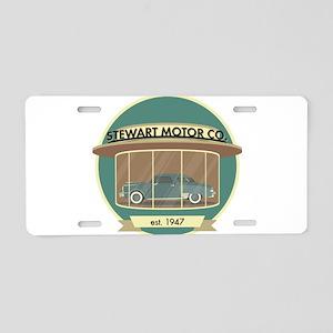 Stewart Motor Company Phoen Aluminum License Plate
